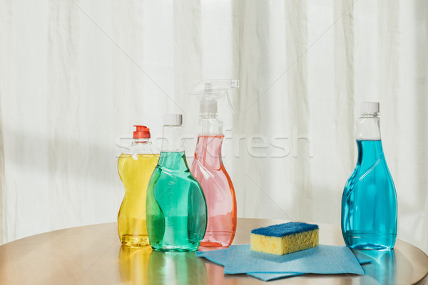 cleaning products on tabletop Stock photo © LightFieldStudios