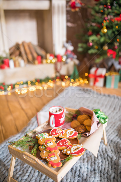 Christmas cookies and hot chocolate     Stock photo © LightFieldStudios
