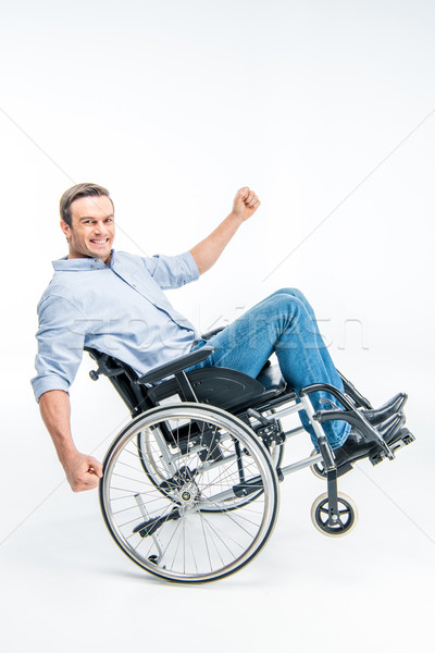 Happy handicapped man Stock photo © LightFieldStudios
