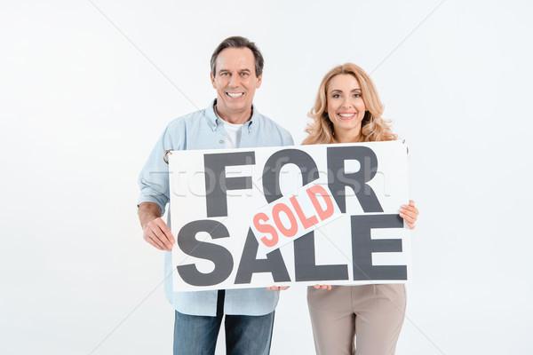 Feliz maduro Pareja venta vendido Foto stock © LightFieldStudios