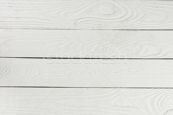 Közelkép kilátás fehér mintázott fából készült deszkák Stock fotó © LightFieldStudios