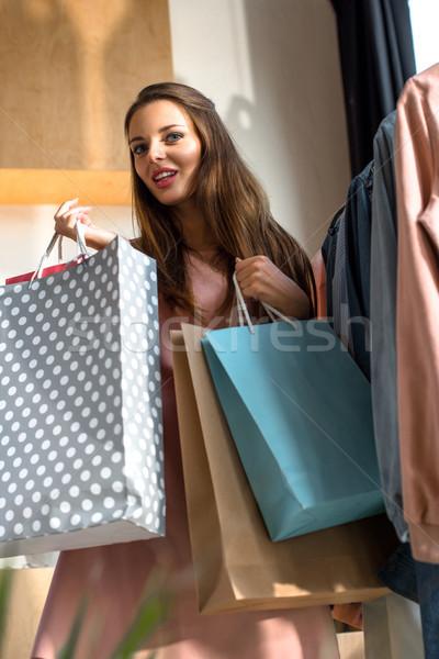девушки бутик улыбаясь Сток-фото © LightFieldStudios