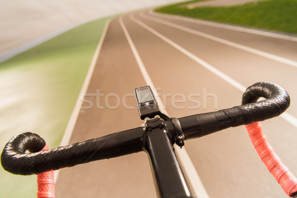 Bicicleta manusear bar foco esportes rede Foto stock © LightFieldStudios