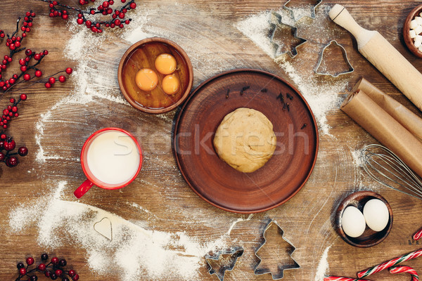 gingerbread dough for christmas cookies Stock photo © LightFieldStudios