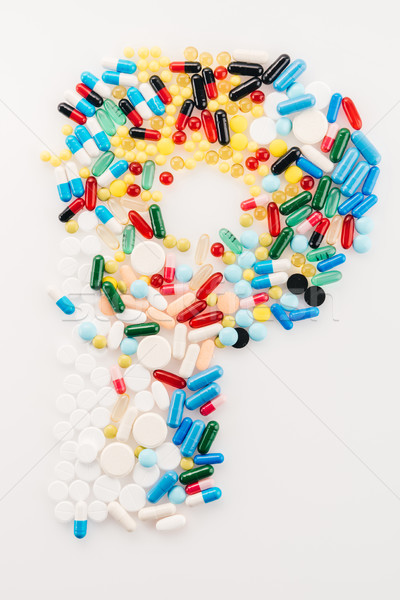 Top view of letter P made from medical pills and capsules, medicine and healthcare concept Stock photo © LightFieldStudios