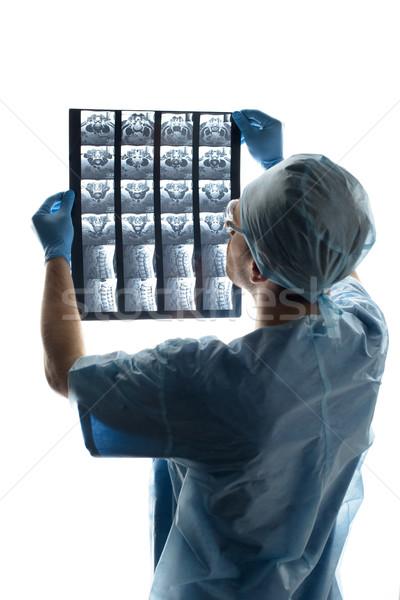 Widok z tyłu chirurg medycznych uniform xray Zdjęcia stock © LightFieldStudios