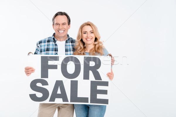 Ver casal cartão palavras Foto stock © LightFieldStudios