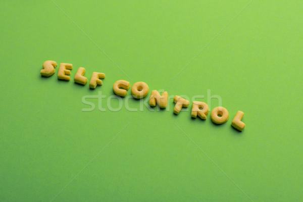 слов Cookies изолированный зеленый Здоровый образ жизни Сток-фото © LightFieldStudios