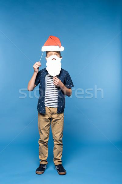 Erkek şapka sahte sakal sevimli Stok fotoğraf © LightFieldStudios