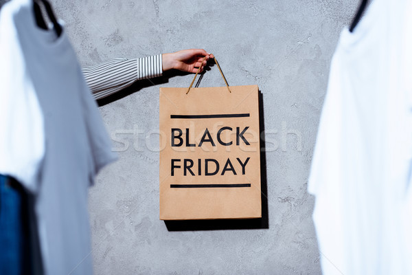 Stock photo: black friday shopping bag
