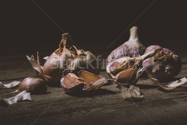 Sani aglio primo piano view greggio chiodi di garofano Foto d'archivio © LightFieldStudios