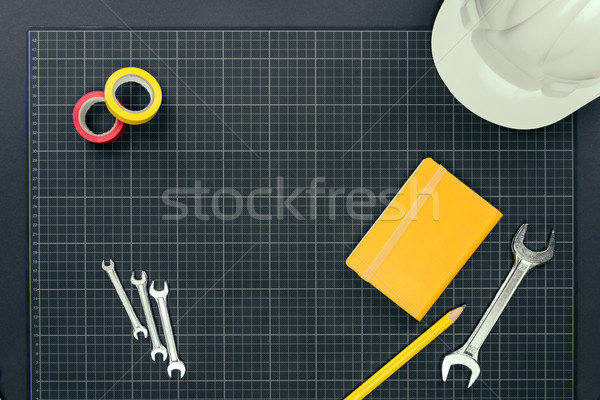 Notebook and tools on graph paper Stock photo © LightFieldStudios