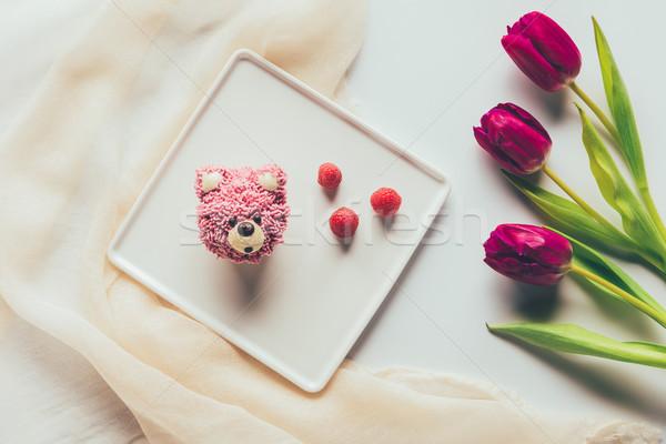 üst görmek tatlı lezzetli çörek biçim Stok fotoğraf © LightFieldStudios