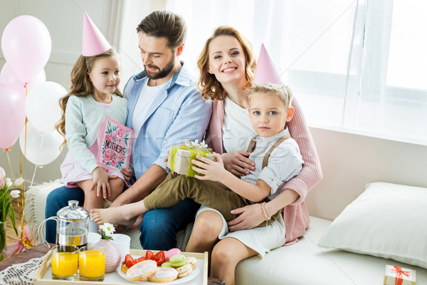 Stock photo: Happy family at Mothers day