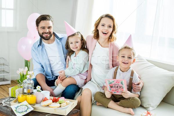 Happy family at Mothers day  Stock photo © LightFieldStudios