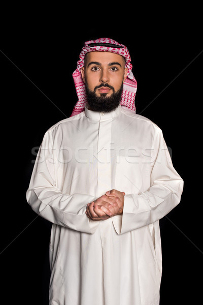 man in traditional muslim clothing  Stock photo © LightFieldStudios