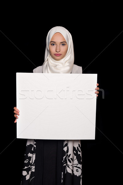 Musulmans femme bord isolé Photo stock © LightFieldStudios