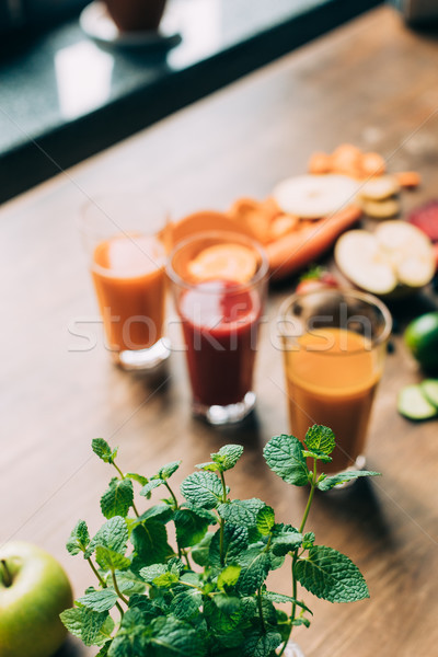 various smoothies in glasses Stock photo © LightFieldStudios