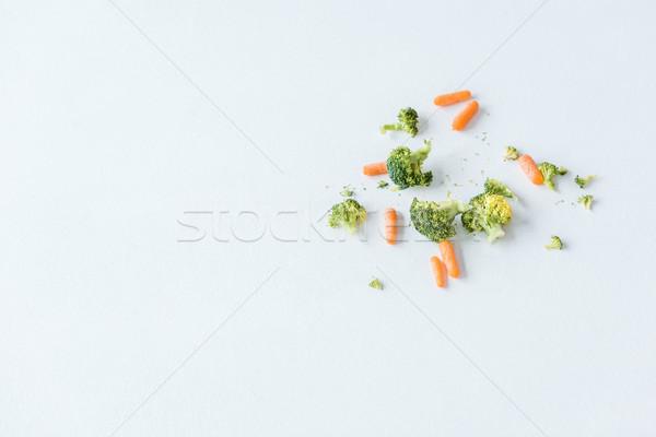 Felső kilátás friss nyers érett répák Stock fotó © LightFieldStudios