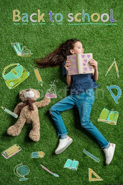 School girl and back to school concept Stock photo © LightFieldStudios