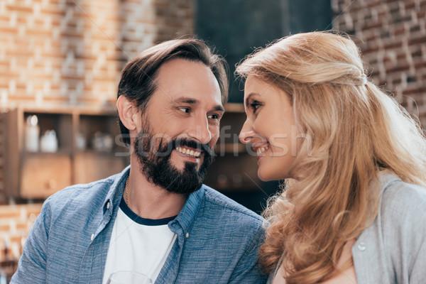 счастливым пару портрет красивой улыбаясь Сток-фото © LightFieldStudios