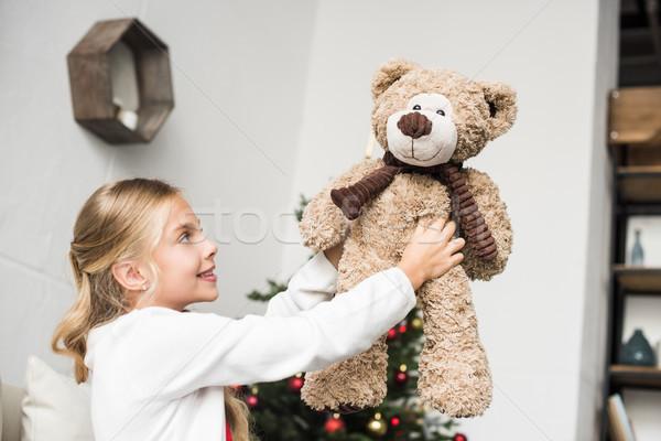 Aanbiddelijk kid teddybeer gelukkig vergadering Stockfoto © LightFieldStudios