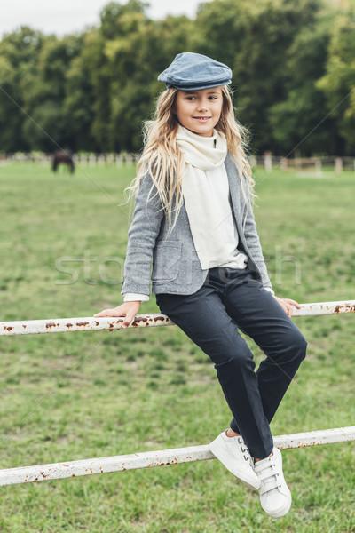 stylish child at countryside  Stock photo © LightFieldStudios