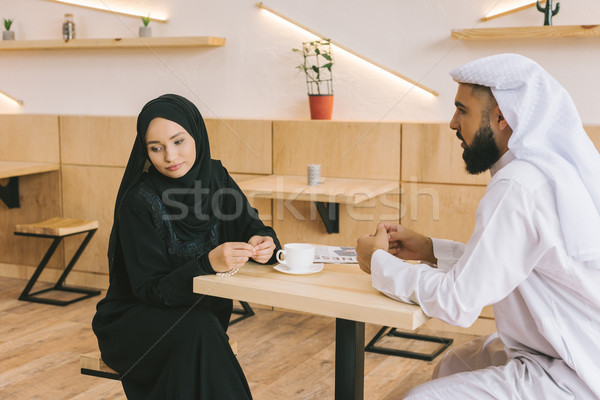 muslim couple having argument Stock photo © LightFieldStudios