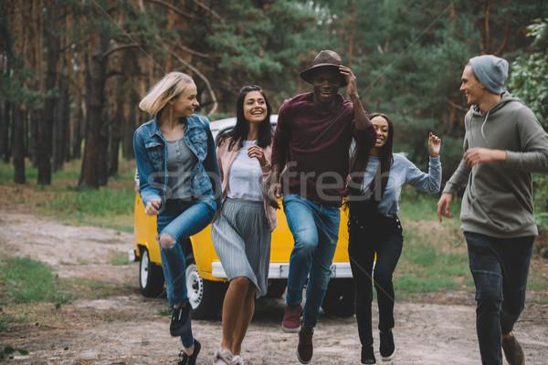 multiethnic friends having fun Stock photo © LightFieldStudios