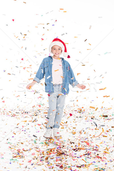 child in Santa hat Stock photo © LightFieldStudios