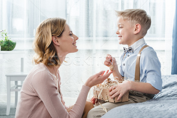 Happy mother and son Stock photo © LightFieldStudios