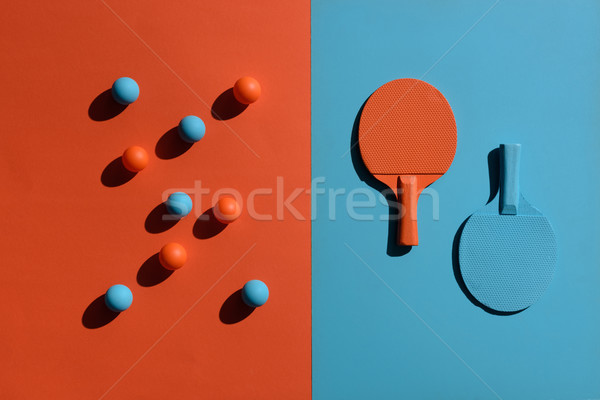 Ping pong górę widoku shot Zdjęcia stock © LightFieldStudios