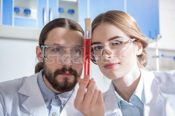 Scientists with chemical sample Stock photo © LightFieldStudios
