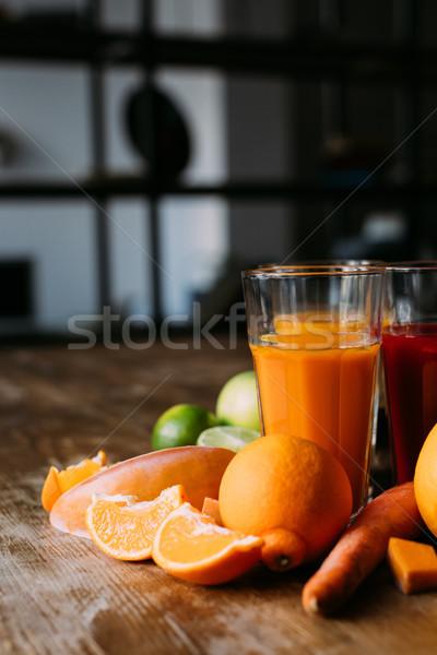 healthy smoothies with ingredients Stock photo © LightFieldStudios