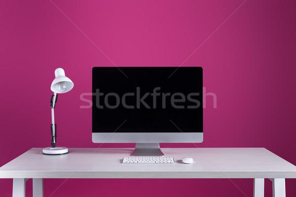 Ekran klavye bilgisayar fare lamba işyeri Stok fotoğraf © LightFieldStudios