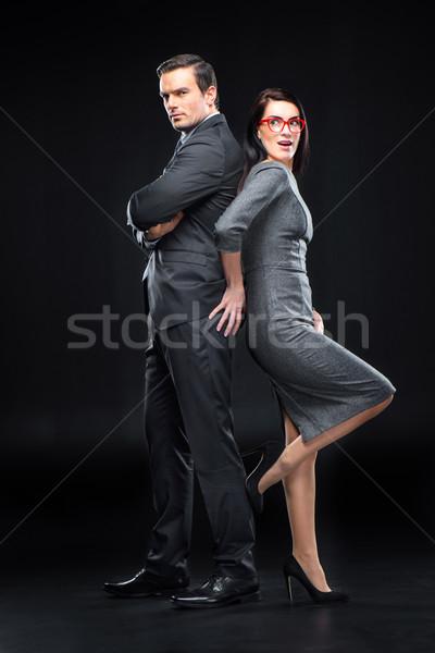 Vrouw man jonge vrouw zitvlak zwarte liefde Stockfoto © LightFieldStudios