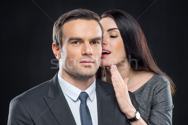 Handsome man and pretty woman Stock photo © LightFieldStudios