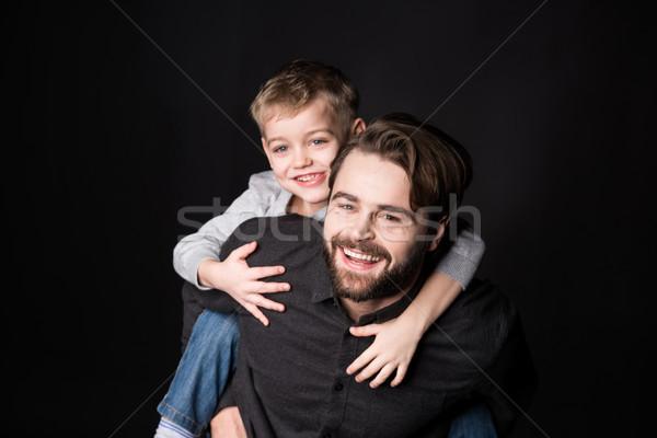 Happy father with son Stock photo © LightFieldStudios