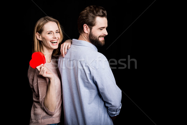Couple with gift for Valentine's Day Stock photo © LightFieldStudios