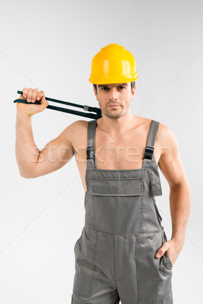 Handsome male builder Stock photo © LightFieldStudios