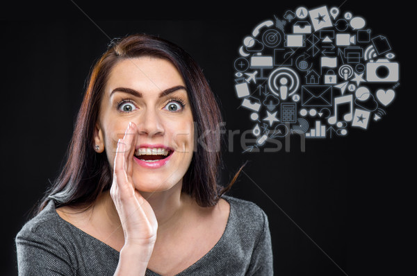 Excited young business woman  Stock photo © LightFieldStudios