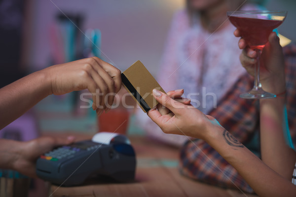 Stock photo: payment with credit card