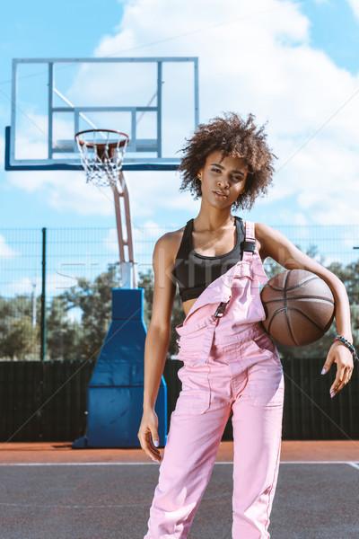 Vrouw basketbal jonge sport beha Stockfoto © LightFieldStudios