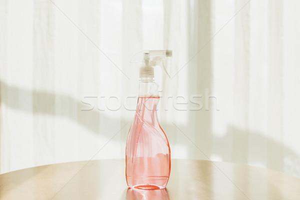 Bouteille nettoyage fluide vue plastique Photo stock © LightFieldStudios