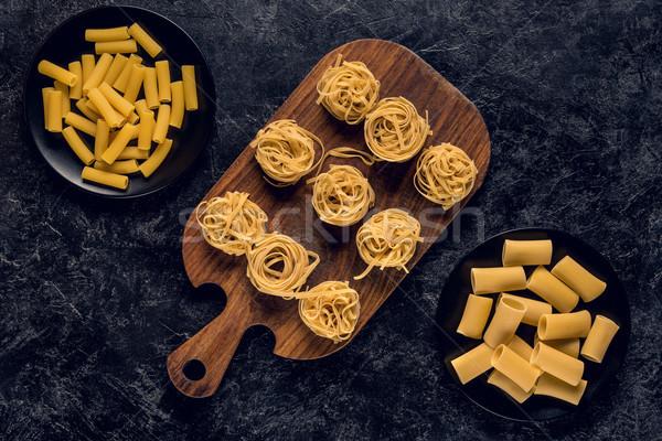 Brut pâtes pierre sombre concrètes Photo stock © LightFieldStudios