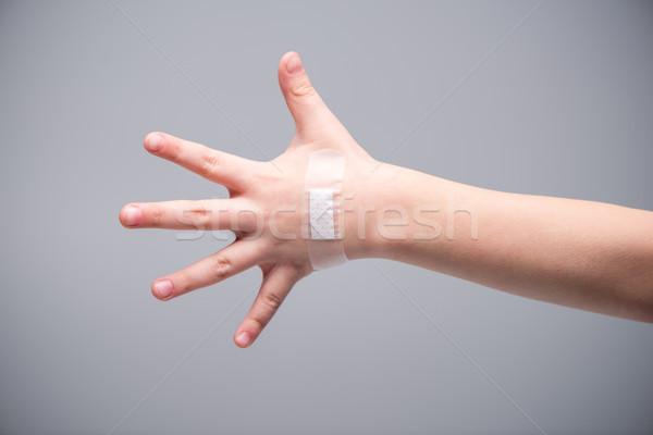 Patch on hand of child Stock photo © LightFieldStudios