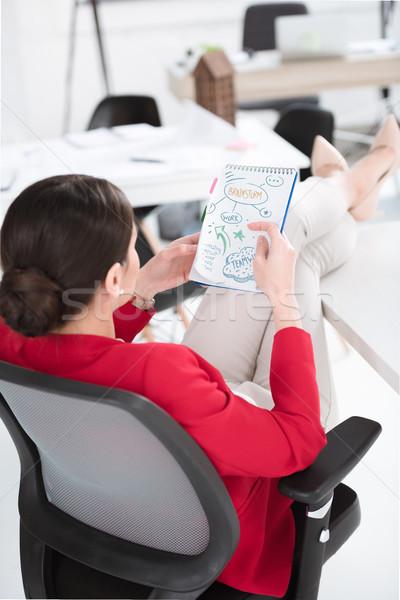 businesswoman working on project  Stock photo © LightFieldStudios
