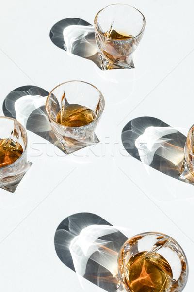 Whiskey bril schaduwen witte Stockfoto © LightFieldStudios
