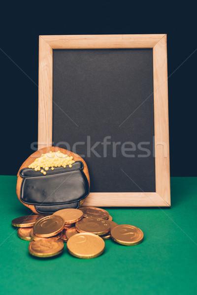 空っぽ ボード コイン ジンジャーブレッド 緑 ストックフォト © LightFieldStudios