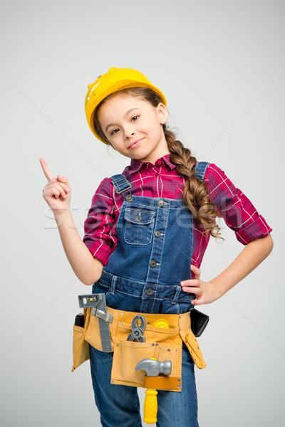 Little girl in tool belt Stock photo © LightFieldStudios